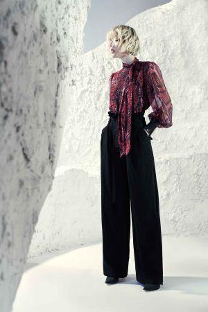 Blusa seda animal print com paetês Alphorria - ref: 077016 - R$ 599,90